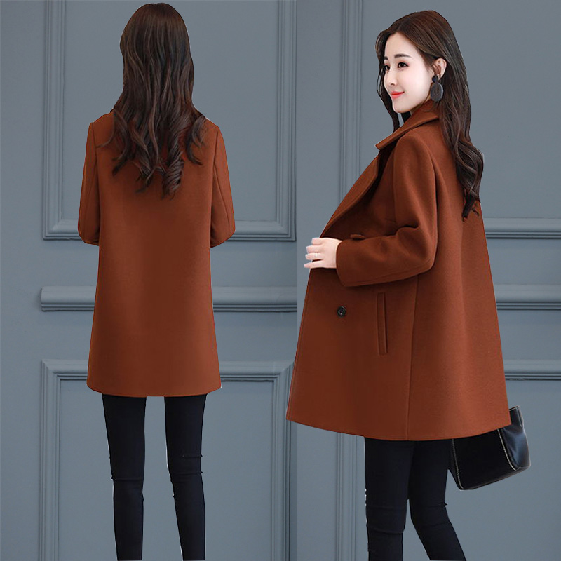 小个子毛呢外套女修身 加厚呢子大衣中长款 显瘦韩版 2017秋冬季新款