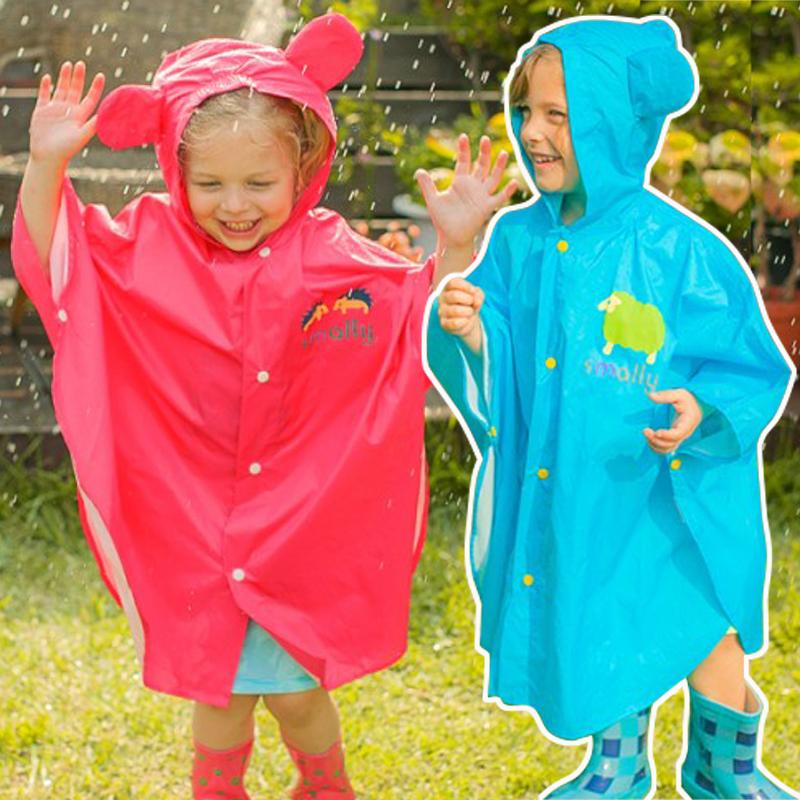 时尚可爱萌萌卡通男女童儿童宝宝雨衣透明雨披斗篷式大中小童学生