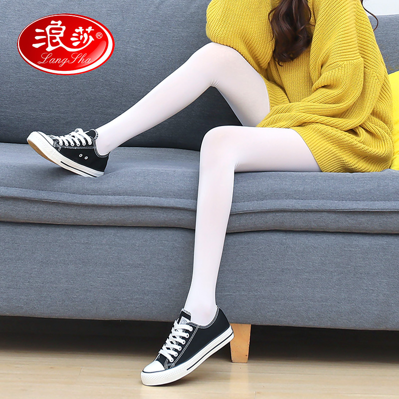 女白色连裤袜
