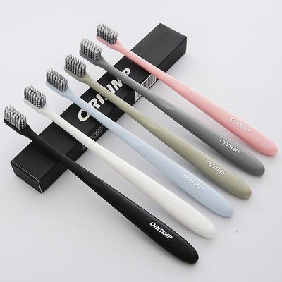 ORISIMP成人超细软毛简装牙刷 防出血小头日系牙刷6只装