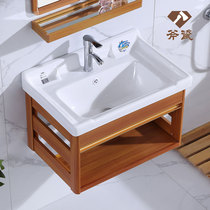 移动单个挂墙式台盆一体盆方形四季柜式组合柜儿童老式洗手室外
