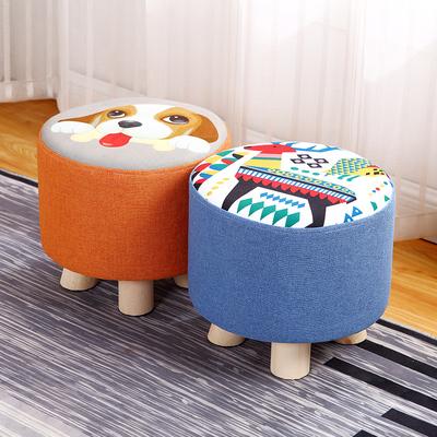 实木小矮凳换鞋凳时尚客厅茶几沙发凳儿童坐墩布艺小板凳家用凳子