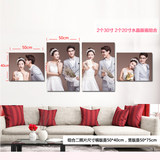 Crystal wedding photo creative combination photo wall photo frame wall custom wedding photo production large living room wall