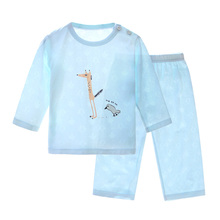 Children's home suit, children's air conditioning suit, children's pajamas, bamboo fiber baby's summer dress season