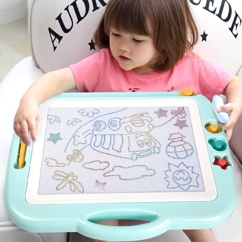 琪趣儿童画画板磁性写字板涂鸦板磁力宝宝幼儿大号彩色1-3岁2玩具