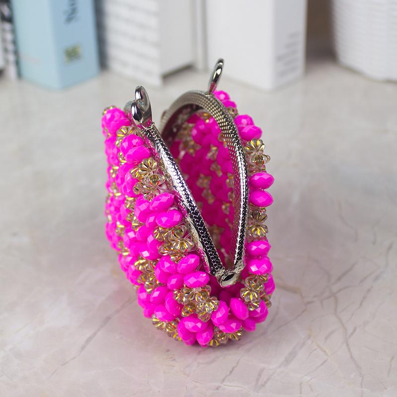 创意手工串珠小钱包成品珠子编织零钱包口金包首饰收纳钥匙包礼物