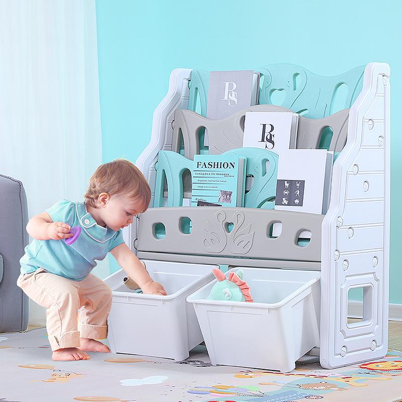 儿童玩具收纳架宝宝收纳柜简易塑料置物架幼儿园整理架多层大容量