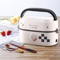 Living element electric lunch box 1 person Mini insulated lunch box can be plugged in electric heating office worker steamed rice with rice artifact