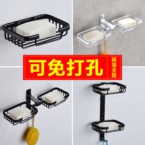 挂壁肥皂盒简约强力吸盘沥水壁挂式浴室免钉免打孔粘贴挂在墙上