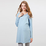 Pregnant women pajamas women autumn cotton long-sleeved Korean version of the moon stripes loose postpartum home service autumn and winter
