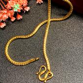 经典 999足金项链 时尚 女士粗款 肖邦蛇骨黄金项链 3mm 黄金项链