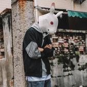 兔子先森夹克男装秋季休闲韩版潮流修身青少年秋装棒球服男士外套