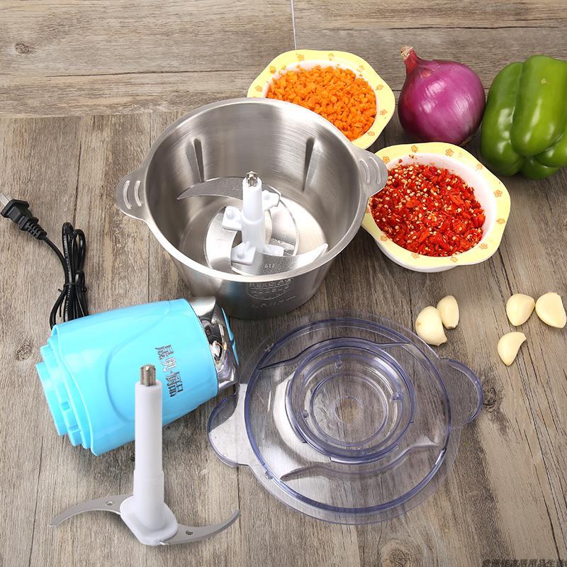 晟奥大容量饺肉机家用电动多功能商用不锈钢小型碎肉机蒜蓉蒜泥器
