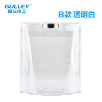 Household wall switch socket transparent waterproof box bathroom toilet splash box protection cover type 86 universal type