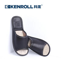 KENROLL Kerou indoor home sheepskin slippers men and women summer thick flat with non-slip floor home slippers