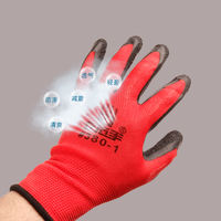 Labor insurance gloves wear-resistant plastic nylon foam king dispensing electrical semi-trailer dipping thickening breathable protection special