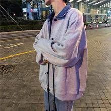 衣服帅气 旋律风车翻领夹克男青年潮流春季宽松外套ins学院风韩版图片