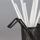 400 disposable plastic straw independent paper packaging can bend the fine straw pregnant women juice drink milk tea straw