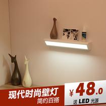 美式黑色壁灯床头灯卧室LED创意马灯北欧书房过道楼梯背景墙灯