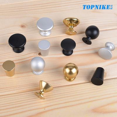现代简约单孔拉手衣柜门橱柜门抽屉柜子把手圆形金色黑色铝合金