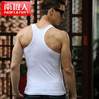 Antarctic men's vest men's slings vest men's cotton youth tight-fitting cotton breathable summer