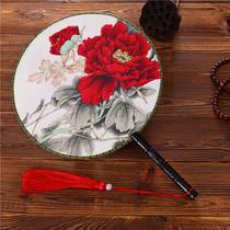 包邮日式传统和风日本江户和服扇烤漆折扇真丝扇古风扇男扇keika