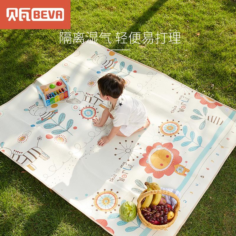 贝瓦XPE宝宝爬行垫家用环保婴儿童爬爬垫双面便携折叠户外野餐垫