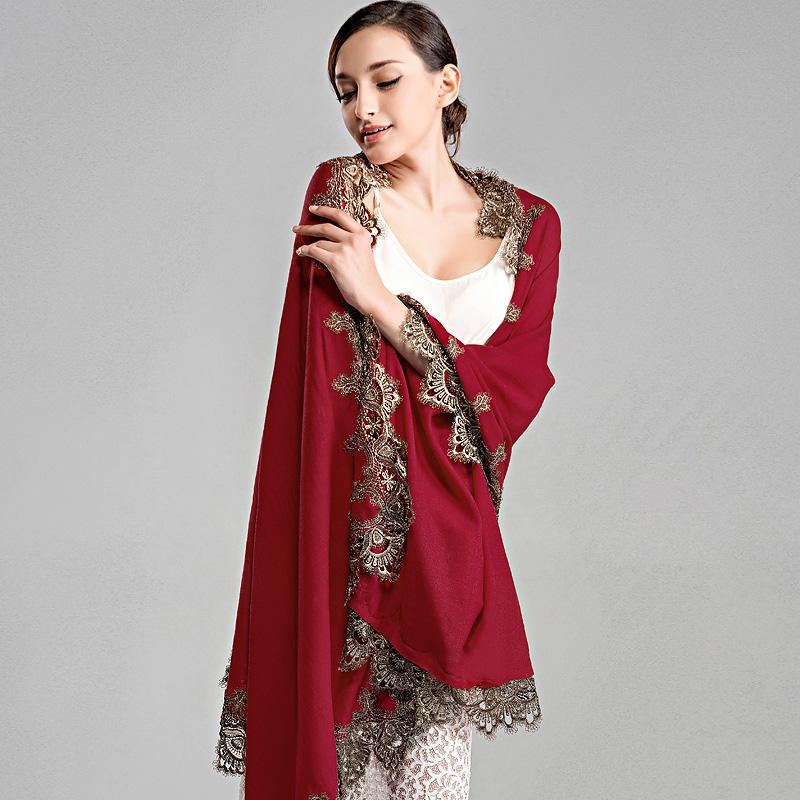 花女羊毛围巾