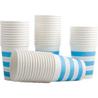 Deli 9560 250ml thick paper cup disposable paper cup is not easy to deform 50 / bag a package price