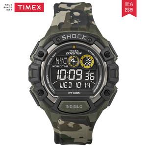 天美时TIMEX手表 Expedition系列迷彩色电子功能男表T49971-dw1