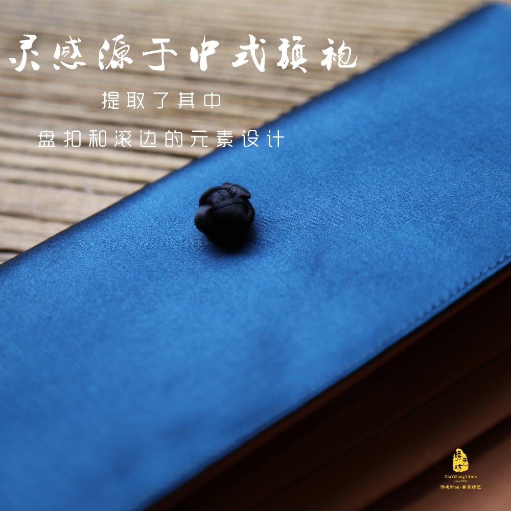 蜀绣手工刺绣荷花桑蚕丝钱包成都特色礼品送老外送妈妈中国风礼品
