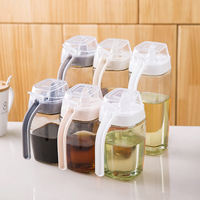 Household large glass oil pot leak-proof oil tank with lid oil bottle kitchen supplies seasoning bottle soy sauce vinegar bottle seasoning bottle