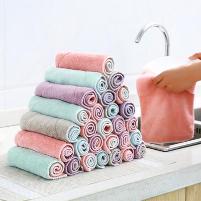 厨房加厚吸水抹布家务清洁布不沾油洗碗巾擦桌布毛巾百洁布擦手巾