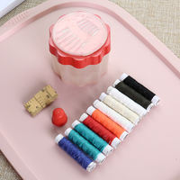 Home Creative Portable Household Sewing Box Sewing Kit Paper Threading Threader Thimble Sewing Thread Kit