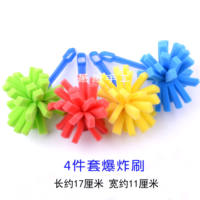 Early childhood education tools DIY hand painting sponge brush children's seal brush Tuya pigment roller roller