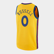 Customized Warrior No. 1 Russell Jersey Chinese retro Yellow City version theme black customized water pull basketball team uniform