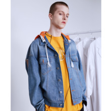 NSS LAB 19 S/S Chao Brand Street Leisure Loose Jeans, Especially Changjing Jeans Jacket