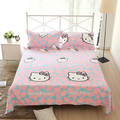100%全棉床单单件纯棉单双人宿舍卡通1.2 1.5 1.8米秋冬棉布被单