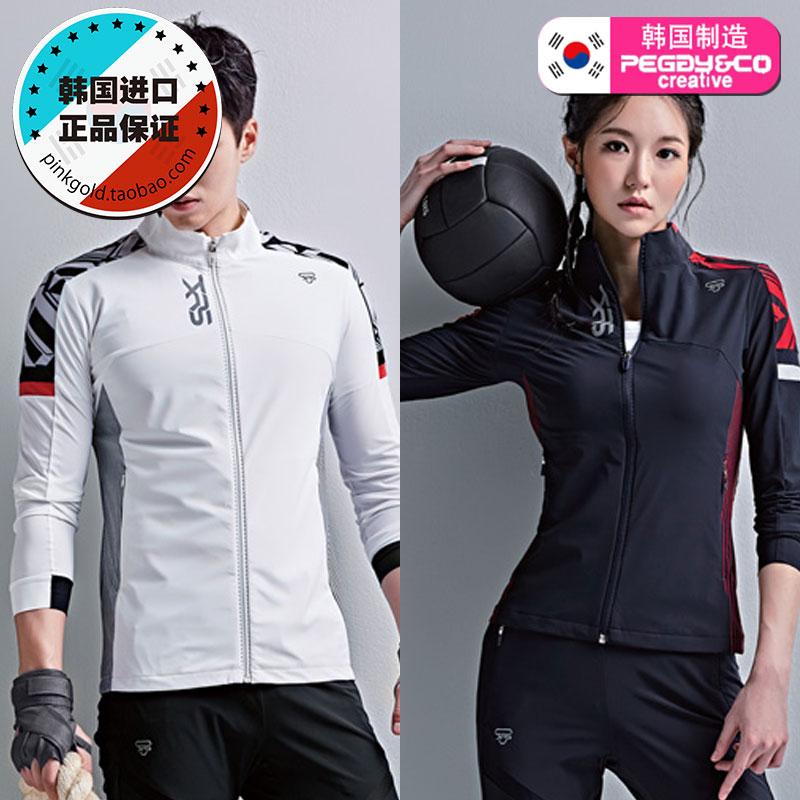 2019春夏 PEGGYNCO 韩国直邮正品 男女两款拼接运动外套羽毛球服