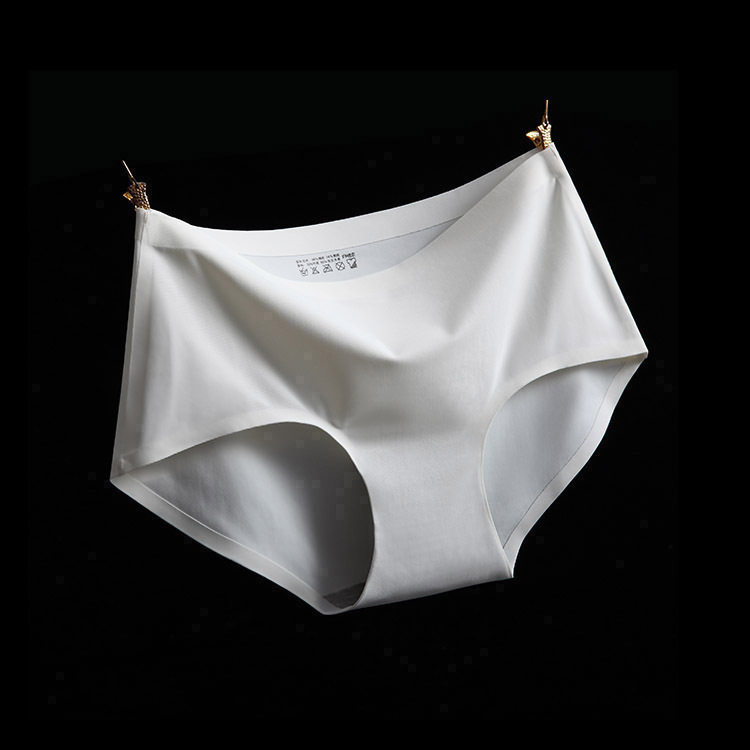 大码女士无痕冰丝柔滑一片式运动内裤中腰贴身大码无缝透气舒适薄