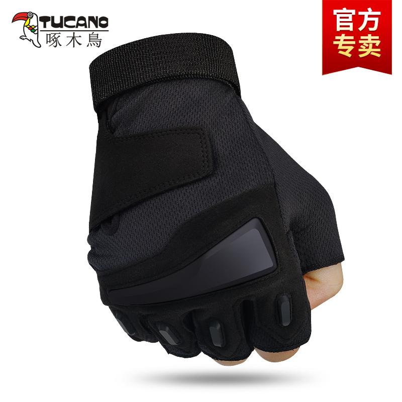 運動半指手套男軍春夏特種兵戶外用戰術手套健身防滑騎行手套露指圖片
