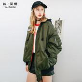 2017冬季新款外套韩版宽松学生中长款加厚飞行服ulzzang棉袄女潮