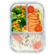 Biological microwave special glass lunch box female separation seal office workers fresh can be heated bowl lunch box