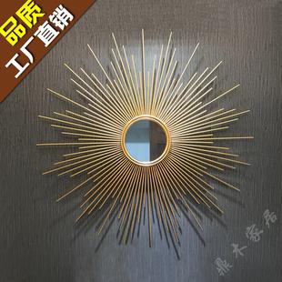 欧式轻奢铁艺壁饰太阳镜挂饰玄关过道床头餐厅客厅沙发背景墙装