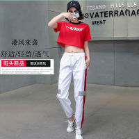 Adult jazz dance costume women's suit super fire hiphop pants female BF street dance clothes loose dance practice clothes