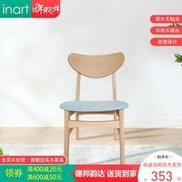 北欧餐椅现代简约家用棉麻靠背椅长凳纯橡木椅子长凳创意休闲椅凳