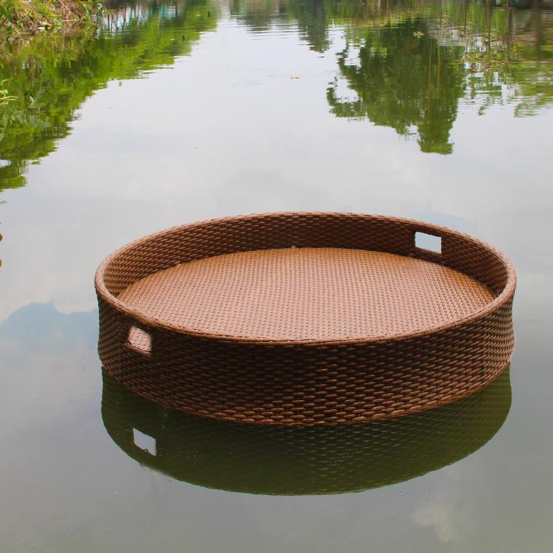 漂流餐台泳池餐船会所泳池餐台户外防水水上餐船定制浮力台