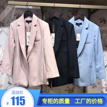 The new autumn dress of 2019 is 30093177, a small suit jacket with slim buttons and a body-building nine-sleeve suit.