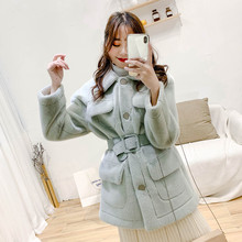 Mink-like woolen jacket new style spring clothes of 2019