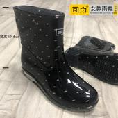 新款回力雨鞋女士水鞋保暖鞋防滑防水鞋中筒时尚雨靴胶鞋加绒雨鞋
